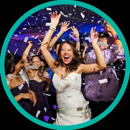 Mariée heureuse paillettes- Mylo events